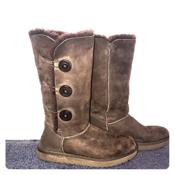 639e8162668 Dark brown, button up tall UGG Boots